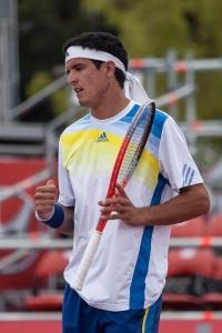 El tenista ecuatoriano Emilio Gómez, hijo de Andrés Gómez, ganador del Roland Garros 1990.