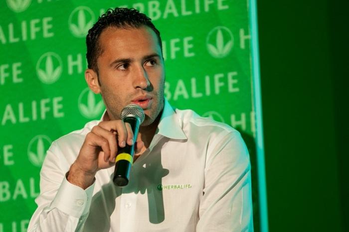 El portero de la Selección Colombia durante su presentación en el Team Herbalife. Foto: Juan José Horta / fotógrafo El Nuevo Siglo.