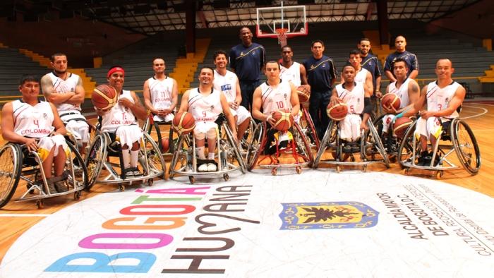 Selección oficial de baloncesto en silla de ruedas que compite en la sexta Copa de la categoría, que se realiza en Bogotá.