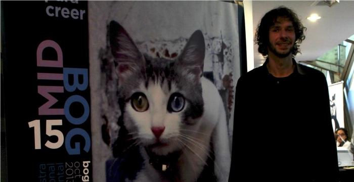 El cineasta francés durante su paso por las 15 Muestra Internacional Documental.