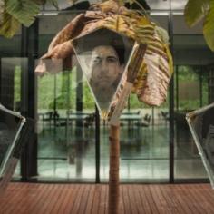Mediante las obras 'Las partes', compuesta por 74 piezas de vidrio en forma de pirámide invertida donde se muestran los rostros y nombres de personas desaparecidas.