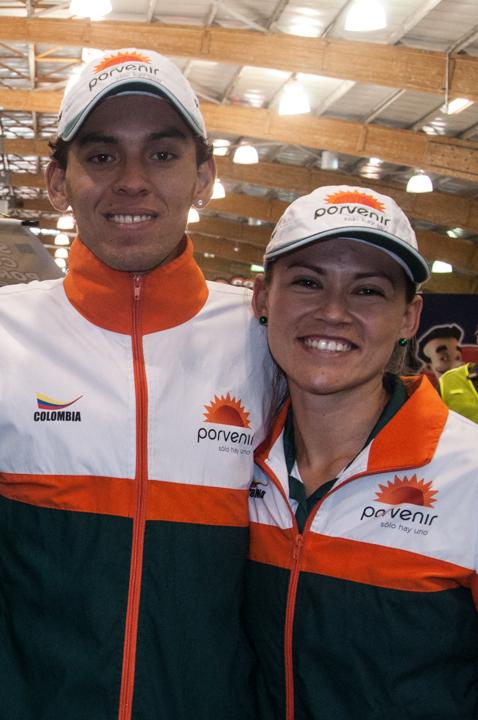 Los atletas Gerald Giraldo y Carolina Tabares.