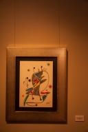Y la segunda, Las Maravillas con variaciones acrósticas en el jardín de Miró, está compuesta por un conjunto de veinte litografías, editadas en un libro-carpeta con poemas de Rafael Alberti, también en 1975 y dedicados especialmente al español.