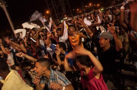 Extasiados por un intenso entusiasmo más de 120mil personas celebraron una nueva edición del Festival de Música Pacífica Petronio Álvarez.
