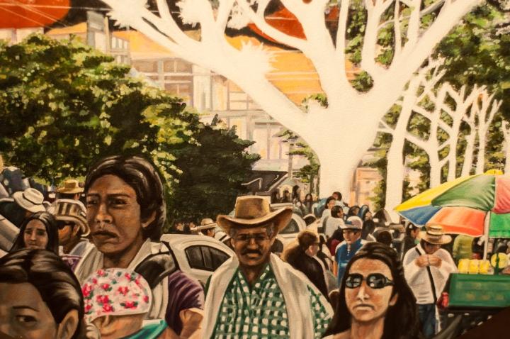 2.Un informe publicado en medio de la obra del artista plástico, Oscar Villalobos Forero, quien expone esta histórica problemática que sacude al país desde hace décadas, a través de una serie de pinturas en la sala de exposiciones Débora Arango del Centro Cultural Gabriel García Márquez en Bogotá (Calle 11 No. 5 - 60).