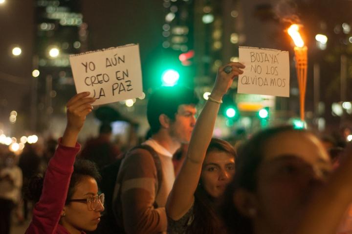 7.La marcha también sirvió para recordar al Estado que la sociedad está unida por la Paz, hayan votado sí o no.